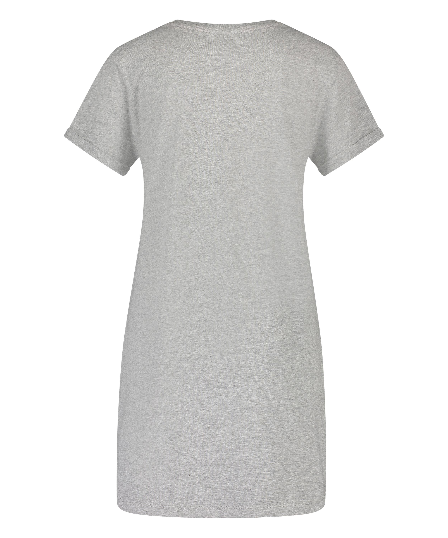 Nachthemd Rundhals, Grau, main