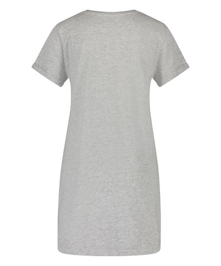 Nachthemd Rundhals, Grau