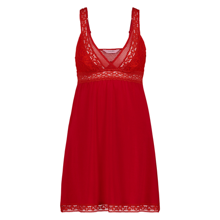 Graphic Lace slipdress, Rot