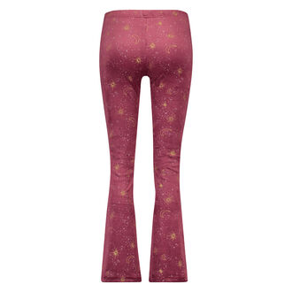 Flared Velours Leggings, Rot