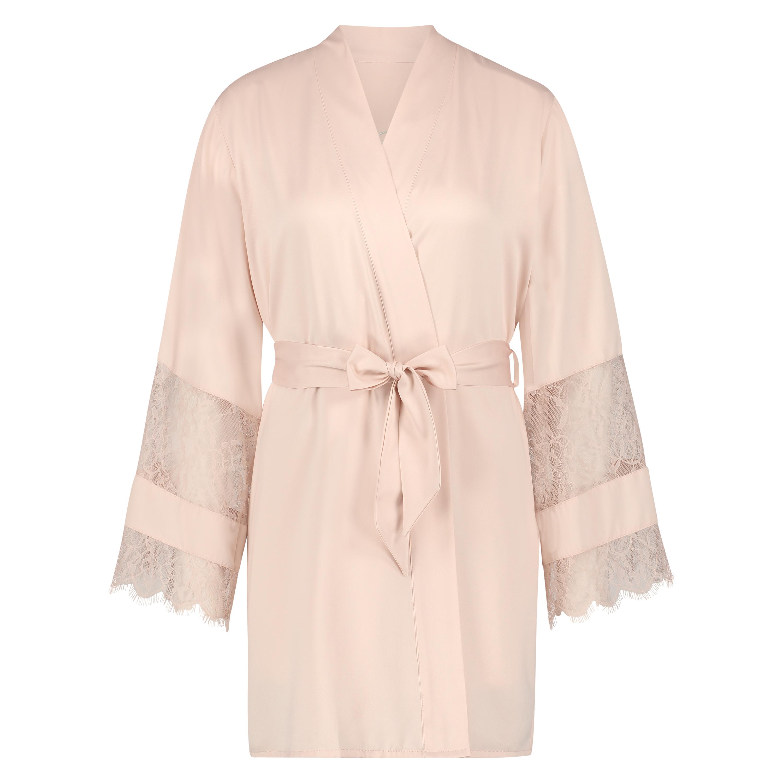 Satin-Kimono Bridal, Rosa, main