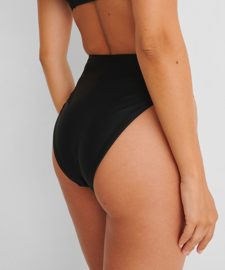 Bikini-Slip mit hohem Beinausschnitt Black HKM x NA-KD, Schwarz