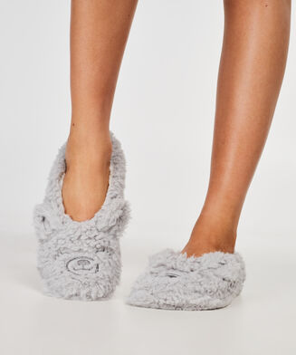 Fluffy Ballerinas, Grau