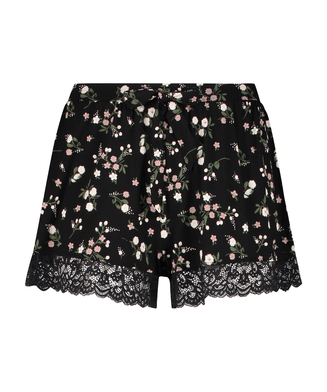 Shorts Ditzy Flower, Schwarz