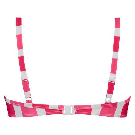 Vorgeformtes Bügel-Bikinitop Candy Stripes, Rose