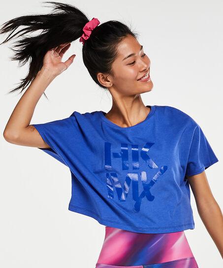 Loose-fit Croptop HKMX, Blau