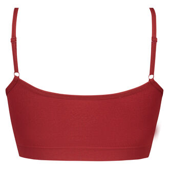 Strappy-Top, seamless, Rot