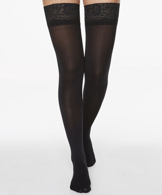 Stay-ups 50 Denier Lace, Schwarz
