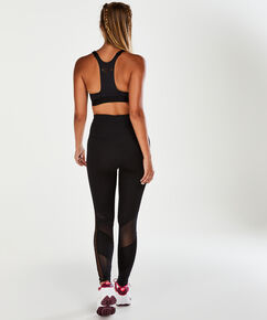 HKMX Sport-BH The Yoga Crop Level 2, Schwarz