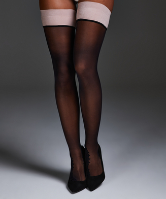 Noir Stay-up Delicate Lace, Rosa