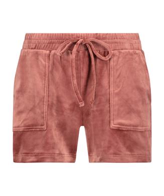 Shorts Velours Pocket, Rosa
