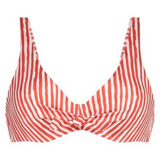 Nicht-vorgeformtes Bügel-Bikinioberteil Julia, Rot