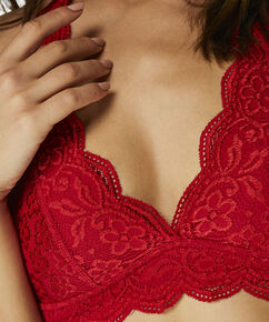 Bralette Halter Lace, Rot