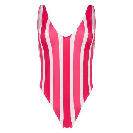 Badeanzug Candy Stripes, Rose