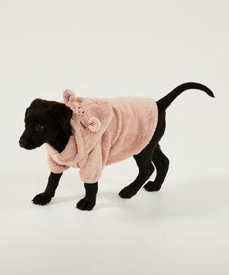 Hunde-Onesie Fleece, Grau