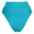 Hoch geschnittener Bikini-Slip Celine, Blau