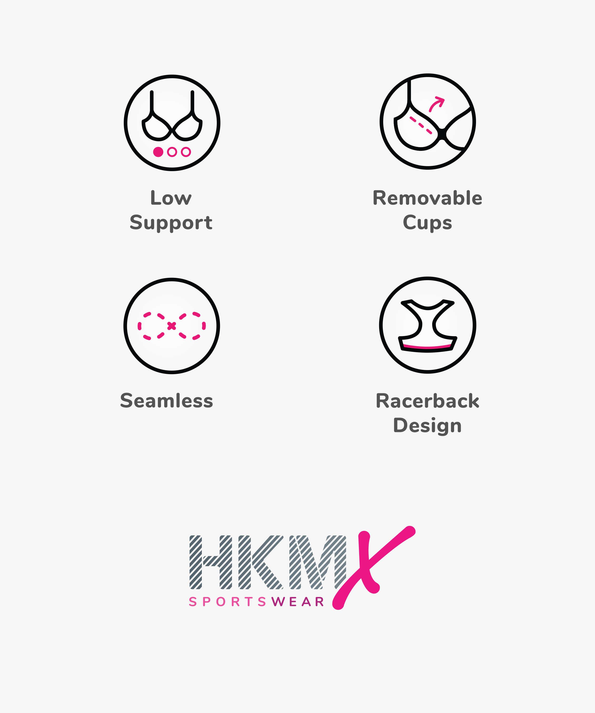 HKMX Sport-BH The Flex Level 1, Schwarz, main