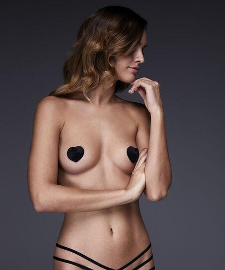 Nipple Cover Fake Fur Private, Schwarz
