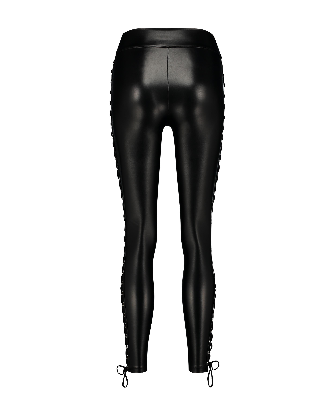 Legging Lace up, Schwarz, main