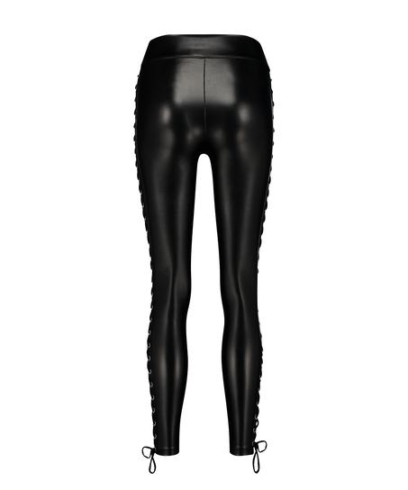 Legging Lace up, Schwarz