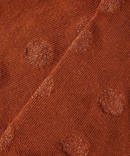 2 Paar Lurex-Socken gepunktet, Schwarz