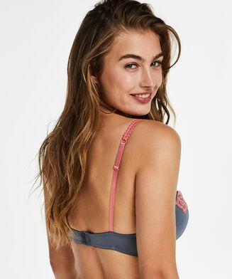 Vorgeformter Bügel-BH Secret Lace mit Spitze, Grau
