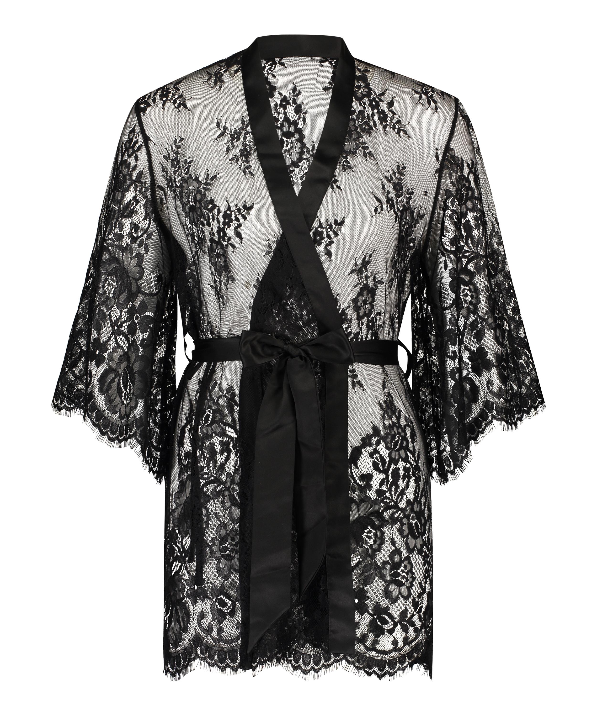 Kimono Lace Isabelle, Schwarz, main