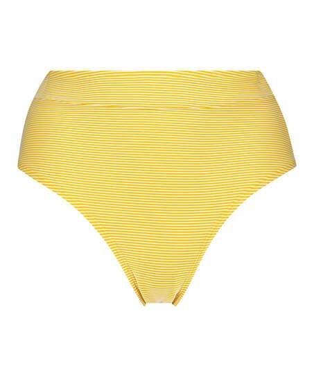 Hohe Brazilian Bikinihose Carmel, Gelb