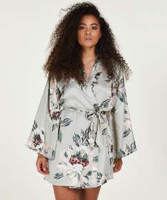 Kimono Satin Print, Blau