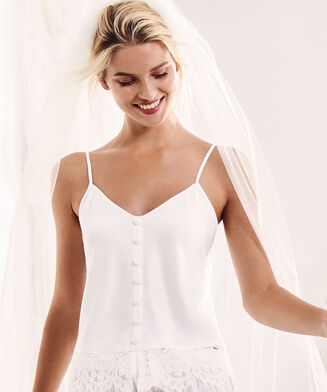 Camitop Satin Bridal, Weiß