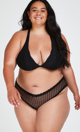 Brazilian V-shape mesh, Schwarz