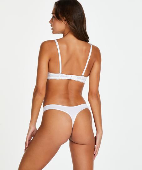 Vorgeformter Bügel-BH Angie mit Spitze, Weiß