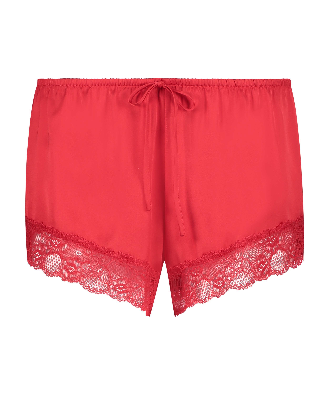 Pyjama-Shorts Satin, Rot, main