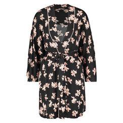 Kimono Woven Blossom, Schwarz