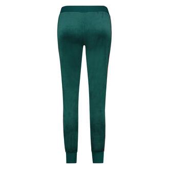 Jogginghose Velours Stripe, grün
