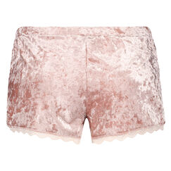 Shorts Velours Lace, Rose