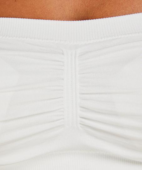 Bandeau-Top, Seamless, Weiß