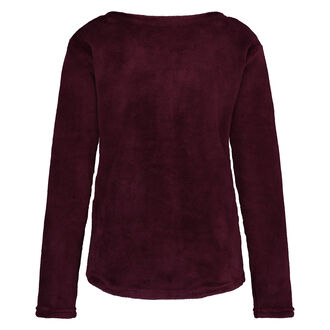 Fleece-Sweater lang, Rot