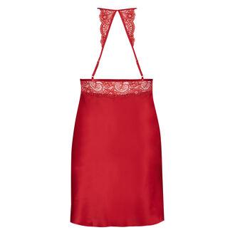 Slipdress aus Satin und Spitze, Rot