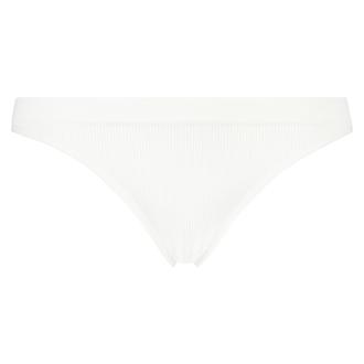 Nahtloser High Leg Brazilian, Weiß