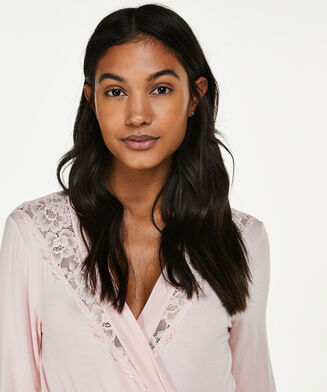 Bademantel Modal Lace, Rose