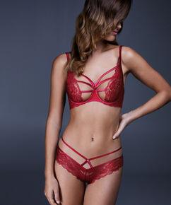 Brazilian Sosha, mit offenem Schritt, Rot