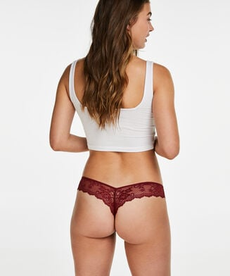 Invisible String Lace Back, Rot