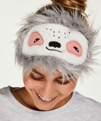Schlafmaske Faultier, Grau