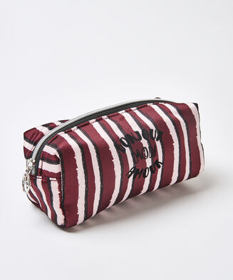 Make-up-Tasche Satin, Rot