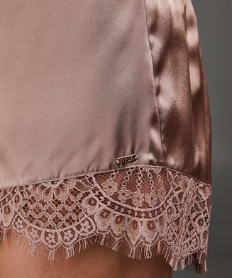 Pyjama Shorts aus Seide Scallop Lace, Rose