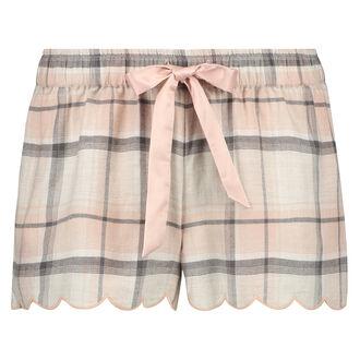 Shorts Twill Check, Rose
