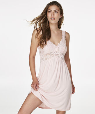 Slipdress Modal Lace, Rose