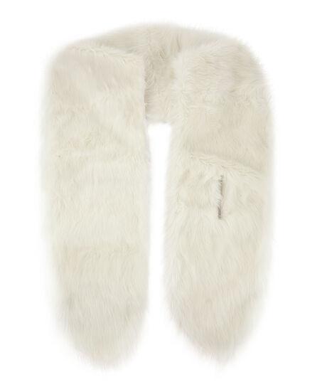Faux Fur Stole, Weiß