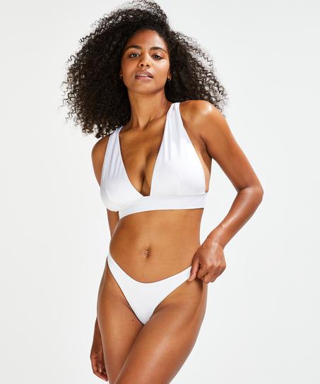 Bikinihöschen Lola mit hohem Beinausschnitt, Weiß